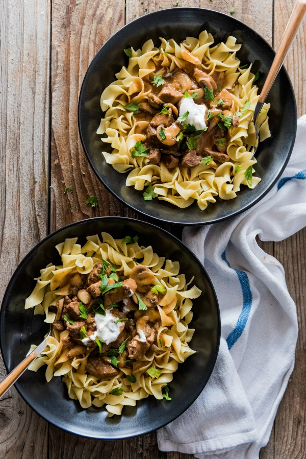 Instant Pot Beef Stroganoff | www.mountainmamacooks.com